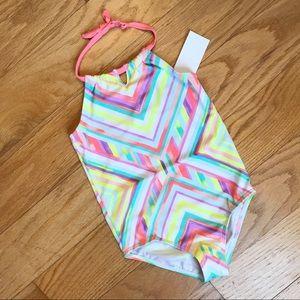 NWT Oshkosh neon halter swimsuit